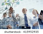 business  people  teamwork and... | Shutterstock . vector #415952935