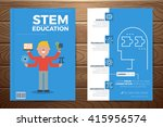 stem education book cover and... | Shutterstock .eps vector #415956574