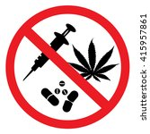 no drugs allowed | Shutterstock .eps vector #415957861
