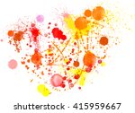 vector watercolor splashes... | Shutterstock .eps vector #415959667