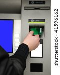 Cash Withdrawal. Woman\'s Hand...