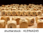 bootcamp word written on wood... | Shutterstock . vector #415964245