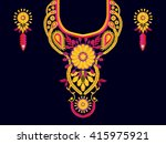geometric ethnic oriental... | Shutterstock .eps vector #415975921