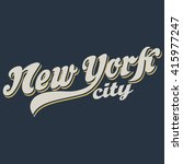 Vintage New York Calligraphic...