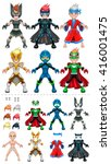 young avatar superheroes.... | Shutterstock .eps vector #416001475