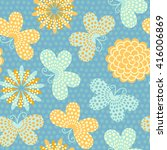 spring summer background with... | Shutterstock .eps vector #416006869