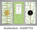 set of brochures with... | Shutterstock .eps vector #416007751