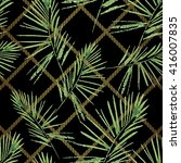 palm leaves pattern. seamless ... | Shutterstock .eps vector #416007835