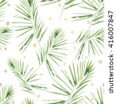 palm leaves pattern. seamless ... | Shutterstock .eps vector #416007847