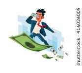 businessman holding binocular...   Shutterstock .eps vector #416026009