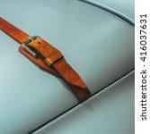 A Detail Of Metallic Grey Car...