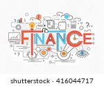 creative concept of finance ... | Shutterstock .eps vector #416044717