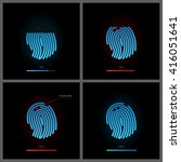 fingerprint icons vector set.