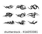 tribal tattoo pattern | Shutterstock .eps vector #416053381