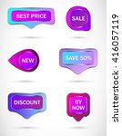 vector stickers  price tag ... | Shutterstock .eps vector #416057119