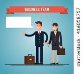 business man and woman with... | Shutterstock . vector #416058757