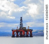 semi submersible oil rig at... | Shutterstock . vector #416060485