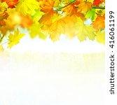 autumn landscape. autumn... | Shutterstock . vector #416061199