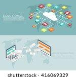 vector modern flat isometric... | Shutterstock .eps vector #416069329