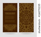 steampunk vector design with... | Shutterstock .eps vector #416070235