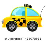 taxi icon.  | Shutterstock .eps vector #416070991