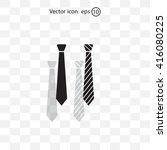 necktie vector icon | Shutterstock .eps vector #416080225