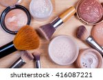 face makeup cosmetics on a... | Shutterstock . vector #416087221