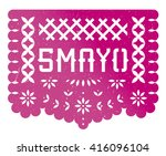 5 mayo banner party  paper cut  ...   Shutterstock .eps vector #416096104