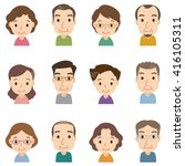 characters of cute comic style  | Shutterstock . vector #416105311
