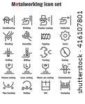 metalworking icon  sandblasting ... | Shutterstock .eps vector #416107801