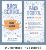 back to school flyer template... | Shutterstock .eps vector #416108989