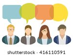 business people and speech... | Shutterstock .eps vector #416110591