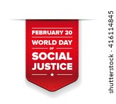 world day of social justice... | Shutterstock .eps vector #416114845