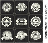 vintage vector logo set of... | Shutterstock .eps vector #416121094