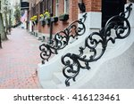 vintage railings  beacon hill | Shutterstock . vector #416123461