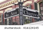 street sign of new orleans most ... | Shutterstock . vector #416124145