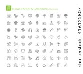 thin line icons set. flat... | Shutterstock .eps vector #416125807