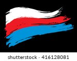 the flag of russia | Shutterstock .eps vector #416128081