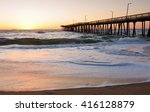 Fishing Pier At Sunrise At...