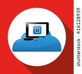 laptop design. technology icon. ... | Shutterstock .eps vector #416128939