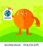 orange engaged in a global... | Shutterstock .eps vector #416131105