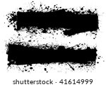 two ink splats with room to add ... | Shutterstock .eps vector #41614999