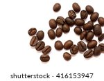 roasted coffee beans  can be... | Shutterstock . vector #416153947