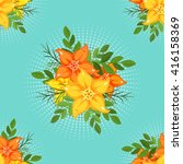 vector seamless pattern with a... | Shutterstock .eps vector #416158369