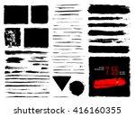 vector set of grunge brush... | Shutterstock .eps vector #416160355