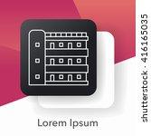 building line icon | Shutterstock .eps vector #416165035