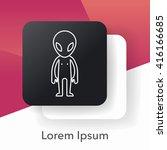 space alien line icon | Shutterstock .eps vector #416166685