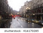 Blurred View Of Road Traffic I...