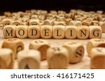 modeling word written on wood... | Shutterstock . vector #416171425
