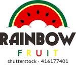 fruit logo template  | Shutterstock .eps vector #416177401